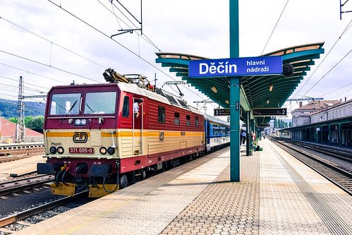 371 005-0 'Pepin' České dráhy Decin hl.n 23.07.15