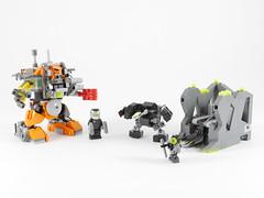 Boxor vs Nuvhok (MOC set) (Anthony (The Secret Walrus) Wilson) Tags: brickonicle bionicle lego system competition contest set bohrok