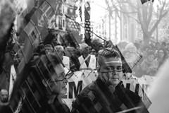 Break down your walls (Marián Company (The Fresh Feeling Project*)) Tags: valencia retrato manifestación protesta refugiados asilo joven adolescente tristeza pintada muros obstáculos paredes reflejo social documental blancoynegro monocromático street streetphoto streetphotography uerfanos cear welcomerefugees weareallmigrants demostration documentary documentaryphoto blackandwhite noiretblanc sadness reflection buiding wall breakdownthewall breakdownyouwalls