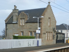 Station building at Kirknewton, West Lothian, now in use as two houses. (calderwoodroy) Tags: midcalder shottsline house scotrail caledonianrailway cr railwaystation railway stationbuilding station kirknewtonstation kirknewton scotland westlothian