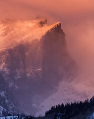 Hallet Peak in Winter (Ryan C Wright) Tags: winter usa nature sunrise landscape scenery colorado snowstorm co estespark rockymountainnationalpark bearlake dreamlake 2013 halletpeak stormpass stocknaturephotography