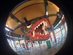 Chinese Dragon (CoasterMadMatt) Tags: china park parque espaa fish eye primavera port de lens photography amusement spring spain foto dragon distorted photos head chinese may fisheye mayo themepark xina aventura espaol fisheyelens atracciones iphone fotografa fotografas portaventura parquetemtico 2013 coastermadmatt uploaded:by=flickrmobile flickriosapp:filter=nofilter