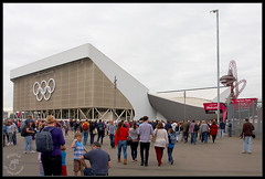 Aquatic Centre ( Hammer Head ) Tags: uk greatbritain london britain great entrance olympics olympicpark canonef1740mmf4lusm stratford olympicgames london2012 gbr olympicrings aquaticcentre eos40d stratfordgate