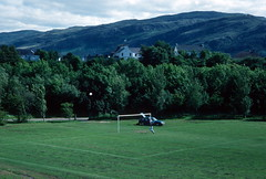 Football field, Ullapool (1996) (Duncan+Gladys) Tags: uk scotland ullapool rossandcromarty