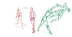 fIGURE DRAWING AULA 08 - revisao (Olimpio Romano) Tags: woman male pose action human anatomy
