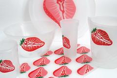 พิมพ์ชุดเครื่องครัว | สตอเบอรี่ | Screen Printing Kitchen set Strawberry