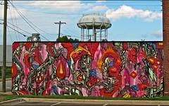 3 day Collaboration painting with Ted Harper (iamhieronymus@gmail.com) Tags: streetart watertower northcarolina ziggys hieronymus