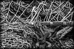 Chained rope by Guy Snoekx (Cohibathebest cigar in the world) Tags: bw contrast zeiss coast blackwhite interesting belgium belgique belgie sony belgi zee full chain frame strong flanders nieuwpoort a850 dramactic snoekx dslra850 sonnart18135 cohibathebest