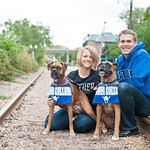 "<b>Munks Gisleson2</b><br/> Melissa (Munks) and Andy Gisleson with their two boxers Charlie and Sully.<a href=""http://farm4.static.flickr.com/3676/9447090542_2a1a1d2840_o.jpg"" title=""High res"">∝</a>"