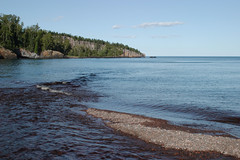 Mouth of Baptism River at Tettegouche State Park