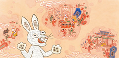 Rabbit Telling the Story (Children's Book) (jangyoung_) Tags: ocean family sea baby mountain rabbit art history animal kids illustration painting children mom asian book kid education colorful hare king ibook dragon turtle adorable palace story lobster whale colourful oriental myth clever illust picturebook illustrate kidsbook eastasia underthesea kindle asianstory