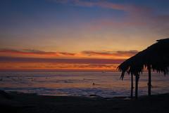 Waiting For A Wave At Windansea (peasap) Tags: ocean california sunset orange fire waves sandiego lajolla pacificocean surfboard surfers fishingboat fireinthesky tikihut windansea sotherncalifornia