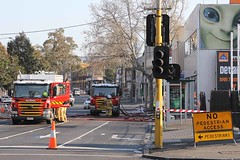 Spencer Street North (adelaidefire) Tags: street west fire melbourne spencer scania brigade mfb