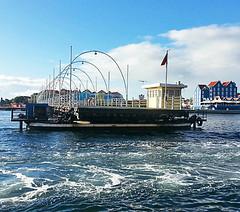 Floating Bridge (Johanna Hoffmann) Tags: blue sky clouds day clear curacao netherlandsantilles punda otrobanda queenemmabridge annabaai projectweather samsunggalaxyiii somecloud