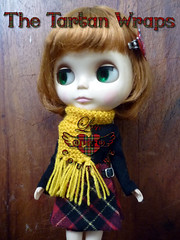 The Tartan Wraps - red & yellow