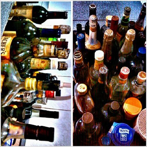 before we go to bed, dapat safe ang mga wine collections ng pudra koo, mas mabuting ilagay sa sink. After shock @ 10 & 12 daw.