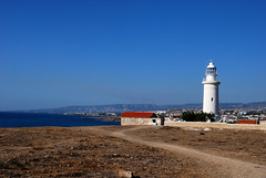 Lighthouse of Paphos (appel) Tags: travel blue sky lighthouse coast day cyprus clear resa cypern