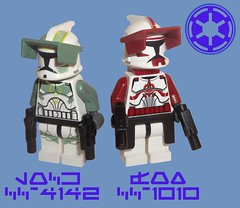 Lock & Fox (OB1 KnoB) Tags: trooper star lego lock guard class company fox wars minifig horn custom figurine clone cruiser commander minifigure coruscant steadfast koth commandant venator eeth cc1010 cc4142