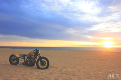 Matt Waln's Harley (RKSPhotography) Tags: ocean city sun beach sunrise factory maryland harley american motorcycle build 55 bobber merica sportser