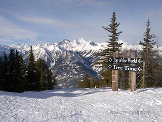 I'm on top of the world at Panorama Ski Resort