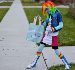 Rainbow Dash Rocking Out (JasonCameron) Tags: cute halloween fun costume scary rainbow funny little lol spooky pony dash mlp