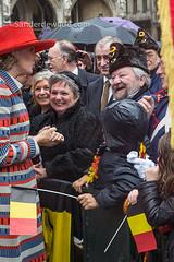 Mathilde maakt publiek aan het lachen (De Wilde photography) Tags: bezoek brussel gewest officieel kroning blijdeintrede