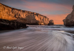 Shark Fin Cove (About Light Images Photography) Tags: ocean seascapes sunsets beaches davenport pescadero pacificcoast seastacks