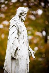 Behind Some Clouds (Thomas Hawk) Tags: sculpture usa cemetery christ unitedstates unitedstatesofamerica jesus stlouis missouri jesuschrist saintspeterandpaulcemetery