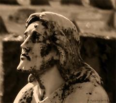 Calvary Cemetery - Utica, NY. USA (B.P.Gray) Tags: newyork man monument cemetery grave graveyard beard religious memorial christ headstone praying jesus tombstone gravestone marker kneeling utica calvary