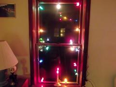 Vintage 1949 c6 lights in window (brown_dan72) Tags: christmas c6 noma generalelectric vintagechristmas