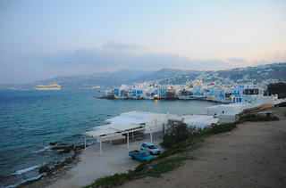 Sunrise view in Mykonos
