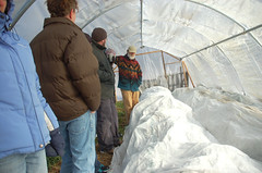 "Hoop House Interior w/ Row Covers <a style=""margin-left:10px; font-size:0.8em;"" href=""http://www.flickr.com/photos/91915217@N00/11283302333/"" target=""_blank"">@flickr</a>"