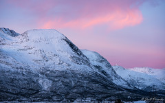 North lights, nordic mountains (Zsolt Varanka) Tags: winter cloud mountain snow norway landscape norge troms lyngenalps