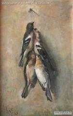 Giulio Cesare Prati Beccacce olio su cartone 1903