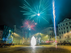 Happy New year on Freedom square (The Adventurous Eye) Tags: new year firework na brno rok nmst ohostroj novoron svobody nov svobok svoboku