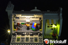 Parisian-- 3rd Floor (brickstuff) Tags: light building restaurant lego led modular parisian brickstuff