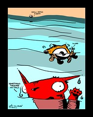 """""""a bit of a flooding issue"""" - a Yo & Dude interlude comic by eric Hews  2014 (eric Hews) Tags: copyright dog feet water television illustration swim cat fun virginia paw funny eric artist comic flood drawing tail yo touch humor cartoon emo creative paddle culture funnies philosophy pop richmond dude strip writer comicstrip raft mean illustrator haha toon float leak simple behavior society something drown yikes touched psychology glub 2014 hews yodude glurb erichewscom yoanddude erichews yoanddudecom yodude 2014erichews ennuizle"""