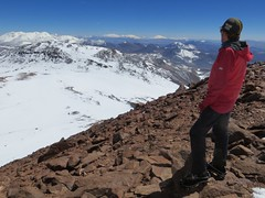 Looking north from the summit of Bonete (6770m)