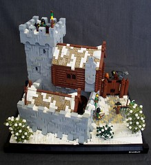 Valdrfell Stables (soccersnyderi) Tags: snow tower castle cabin wolf lego interior stable corral moc warg vision:outdoor=0971