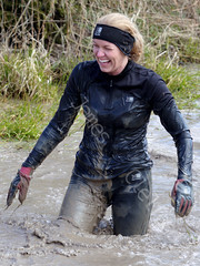 Saturday April 6th 2013. (David James Clelford Photography) Tags: 10k warwickshire dirtygirl 10km wolfrun royalleamingtonspa wetgirl femaleathlete saturdayapril6th2013