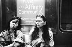 Subway (matthewfilm) Tags: nyc white black film 35mm 50mm summicron ilford leicam3 summicronrigid