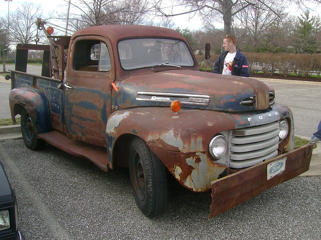 ford rust f3 towtruck 1949 patina cruisenight wrecker glenburniemd lostinthe50s marleystationmall holmes400