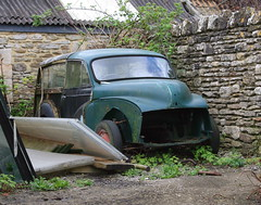 MORRIS MINOR TRAVELLER (shagracer) Tags: classic cars abandoned rotting car dead rust neglected rusty woody traveller forgotten vehicle british rusting morris slime dying minor 1000 decaying stood unloved moggy laidup