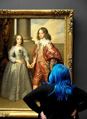 Culture Shock (louise peters) Tags: rijksmuseum amsterdam cultureshock cultuurschok williamandmary williamii willemii marystewart mariastuart engaged betrothed verloofd 1641 hbm happybluemonday trio museum blue visitor toeschouwer