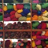Yak wool and recycled silk sari yarn (hijack) Tags: knitting kathmandu thamel woolshop yakwool recycledsilksariyarn
