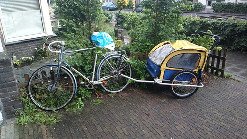 netherlands dutch bicycle eindhoven cargo trailer fiets fietskar