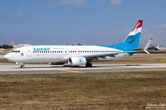 Luxair --- Boeing 737-800 --- LX-LBA (Drinu C) Tags: plane aircraft aviation sony boeing dsc 737 mla luxair 737800 lmml hx100v adrianciliaphotography lxlba