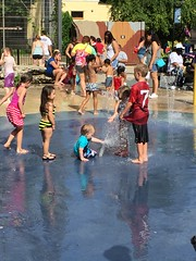 "Paul Plays in the Splashpad at Brookfield Zoo • <a style=""font-size:0.8em;"" href=""http://www.flickr.com/photos/109120354@N07/19810277360/"" target=""_blank"">View on Flickr</a>"