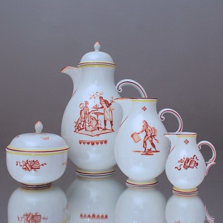 Nymphenburg, Kaffeeservice, Alfred Hagel, Art Déco, Service, München, Kaffeekanne, Tasse, Kaffeetasse, Porzellan