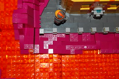 Space Miner 2 (sander_koenen92) Tags: lego space mining tower lava platform outpost container ship crane crystals